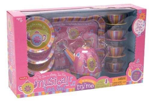 Schylling Toys Musical Tin Tea Set Toy, Kids, Play, Children