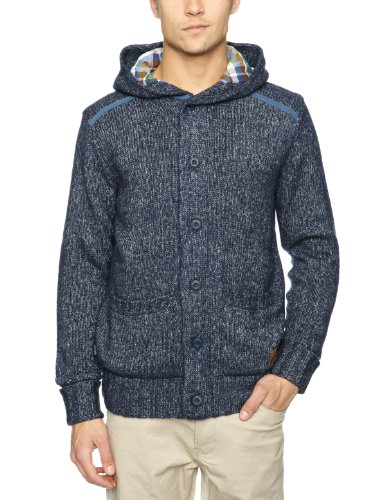 Rip Curl Flannel Lined Buttoned Men's Jumper Crown Blue XX-Large