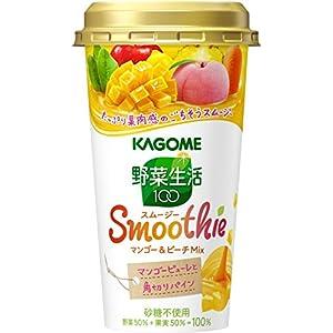 カゴメ 野菜生活100 Smoothie マンゴー&ピーチMix 180g×12本