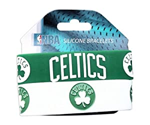 NBA Boston Celtics Silicone Rubber Bracelet Set, 2-Pack by aminco