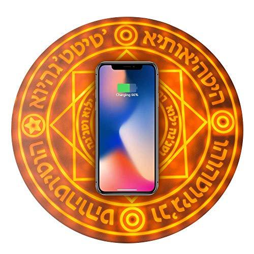 これが魔法の力か‥‥スマートフォンを充電する円形魔法陣