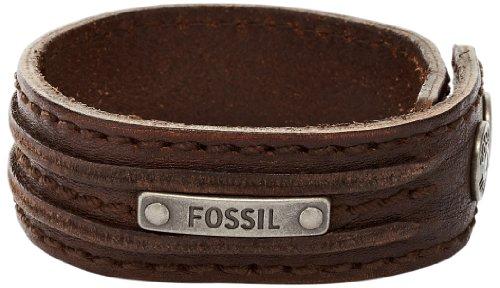 Fossil Jewelry JA5744716 Leather 23.0 centimetres Brass Bracelet