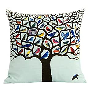 Newport Throw Pillows Birds : Amazon.com - Colorful Birds Cotton Decorative Pillow Cover - Throw Pillow Covers