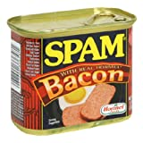 SPAM With Bacon, 12-Ounce Cans (Pack of 6) ~ Spam