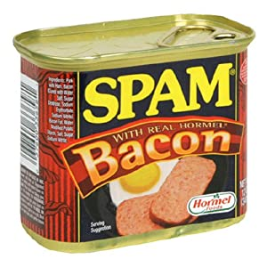 SPAM With Bacon, 12-Ounce Cans (Pack of 6)