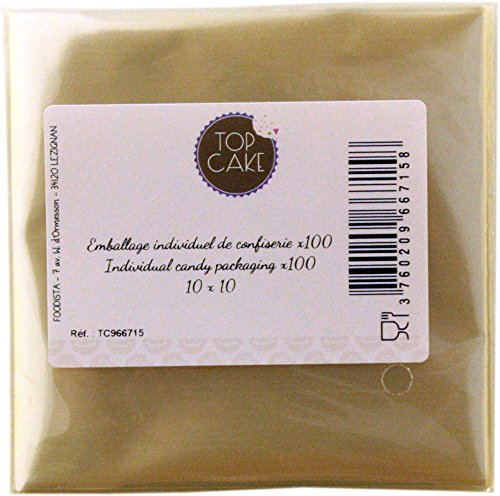 Top cake - Emballages de confiserie x 100 - Carré 10cm - TopCake