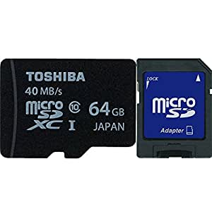 microSDXC 64GB Toshiba 東芝 UHS-I 超高速C10 海外向けパッケージ品