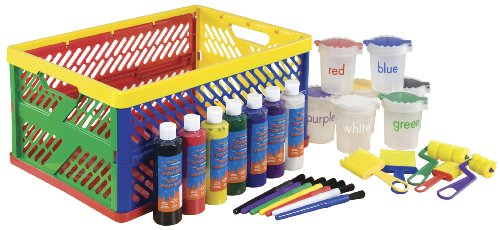 Ecr4Kids 27-Piece Paint Set With Collapsible Crate front-991504