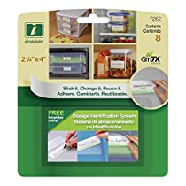 Identa-Label 7262 2.25-Inch by 4-Inch Storage Identification System, Contains 8 Identa-Labels