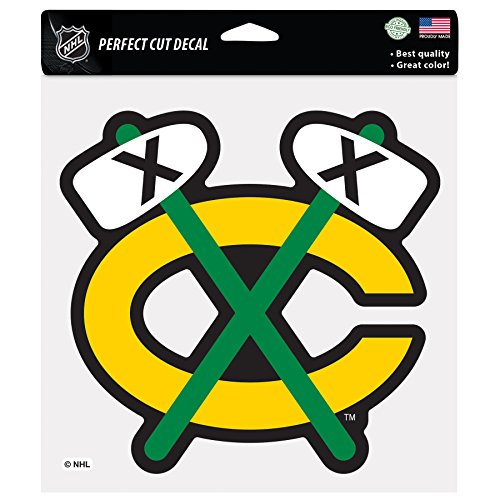 NHL Chicago Blackhawks Tomahawk Perfect Cut Color Decal, 8 x 8