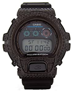 Casio G-Shock Custom 4.50 ct Black Diamond 466 pcs Mens Watch
