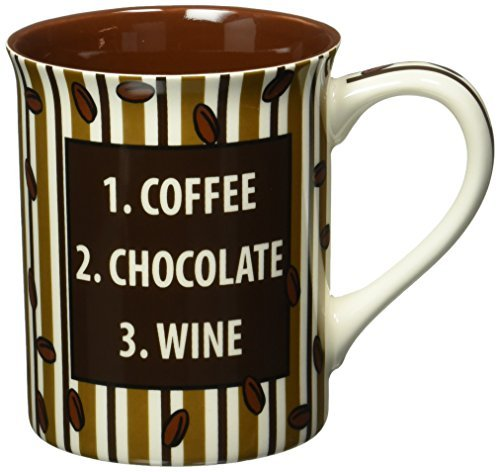 Enesco 4.5-Inch Our Name is Mud Mug by Lorrie Veasey, 16-Ounce, Coffee Chocolate Late by Enesco Gift
