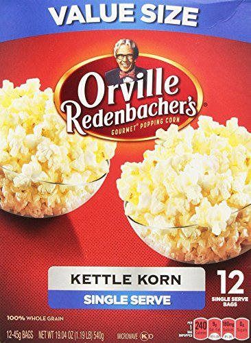 Popcorn Kettle Corn - Orville Redenbacher's Gourmet Kettle Korn Popcorn, Single Serve 12 Count (Orville Redenbacher Popcorn Salty compare prices)