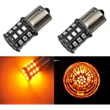 JDM ASTAR AX-2835 Chipsets 1156 1141 1073 7506 LED Bulbs for Turn Signal,Amber Yellow