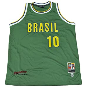 Buy Brasil Brazil Flag Green Basketball Mens Jersey Camisola Tank Adult Size by Taylor & Madison