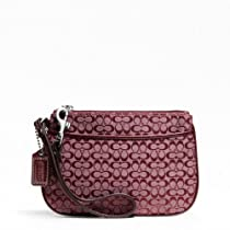 Hot Sale Coach 4CM Signature Small Wristlet F48400 (SV/Dusty Pink)