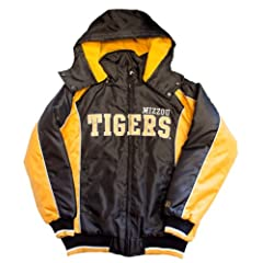 NCAA Licensed Missouri Mizzou Tigers Full Zip Hooded Starter Winter Coat Jacket Youth... by G-III Sports