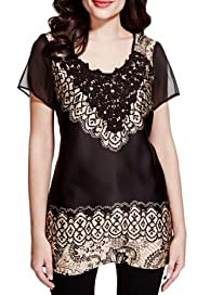 Per Una Crochet Neckline Abstract Print Tunic with Camisole [T62-4924J-S]
