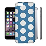 Large Polka Dots on Blue Phone Hard Shell Case for Apple iPhone 6 Plus 5S 5C 5 4 iPod & more - Apple iPhone 6