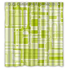 "buy Fantasy Design Green Shower Curtain - 66""X72"" Inches - Waterproof Polyester Fabric - Shower Rings Included"