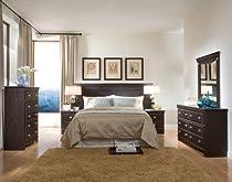 Hot Sale Standard Furniture Carlsbad 6 Piece King Headboard Bedroom Set In Espresso