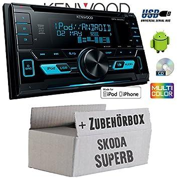 Skoda Superb 1-Kenwood DPX-3000u-2DIN USB Kit de montage autoradio CD MP3-