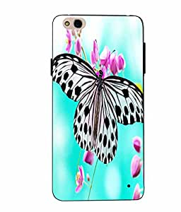 Case Cover Butterfly Printed Multicolor Soft Back Cover For InFocus Bingo 50 Plus