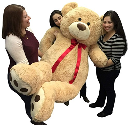 Big-Plush-Giant-6-Ft-Teddy-Bear-72-Inch-Tan-Soft-Oversized-Teddybear-Weighs-20-Pounds