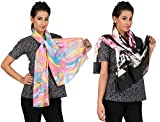 Anuze Fashions Printed Scarves Pack of 2 For Women's And Girl's