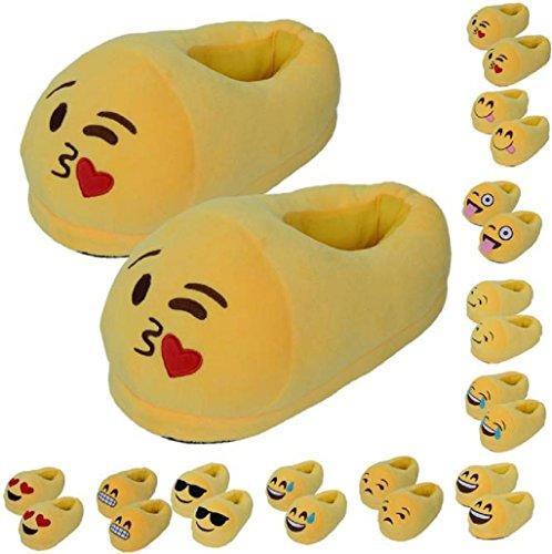 Sannysis-Emoji-Emoticon-Zapatillas-Cmodo-Suela-Trmica-Vellocino-Invierno