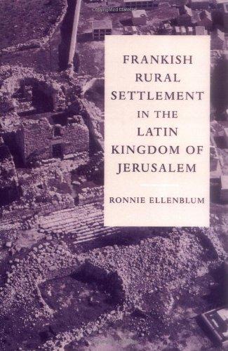 Frankish Rural Settlement In The Latin Kingdom Of Jerusalem (Cambridge Ocr Advanced Sciences) front-1011761