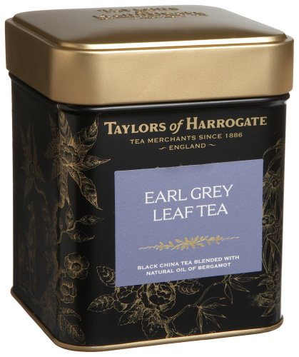 Taylors of Harrogate Earl Grey Leaf Tea, Loose Leaf, 4.41-Ounce Tins (Pack of 2)