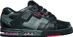 Globe Men\'s Sabre Skateboard Shoe, Black/Charcoal/Infrared, 9.5 M US