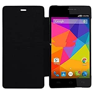 Aalika Huawei Ascend G525 Flip Cover Black High Quality Plastic Back Synthetic Cover Perfect Fit