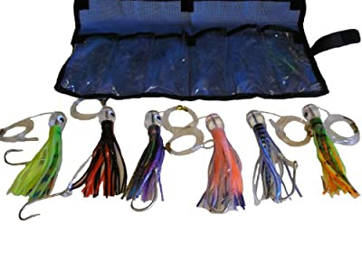 Marlin Wahoo Tuna Saltwater Fishing Lure Rigged 6 Piece Set from Eat My Tackle
