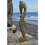 Fairtrade Nautical Pastel Tone Seahorse Statue 80cm