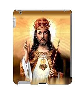 Fuson 3D Printed Lord Jesus Designer Back Case Cover for Apple iPad 2 - D541