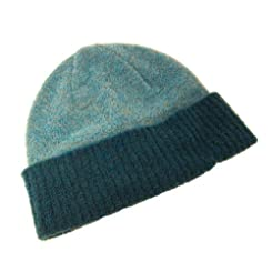 Kerry Woollen Mills Womens Knit Beanie-Soft Irish Lambswool Blend-Teal