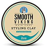 Hair-Styling-Clay-for-Men-Best-Pliable-Molding-Cream-with-Strong-Hold-Matte-Finish-Product-for-Textured-Thickened-Modern-Hairstyles-Shine-Free-2-OZ-Smooth-Viking