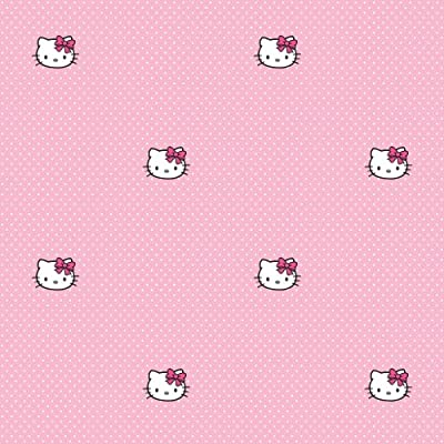 Graham Brown Hello Kitty Polka Dot Spot Wallpaper 10m Roll Pink Bedroom 73399 by FINE DECOR