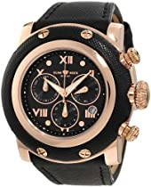 Glam Rock Unisex GR11118 Miami Chronograph Black Enamel Dial Watch