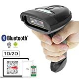 NETUM Bluetooth QR 2D Barcode Scanner Handheld USB Wireless 1D 2D Bar Codes Imager for Mobile Payment Computer Screen Scan for POS Android iOS iMac Ipad System NT-1228BL (Color: Nt-1228bl bluetooth 2d scanner.)