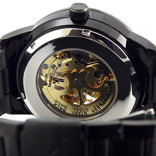 Alienwork IK mechanische Automatik Armbanduhr Skelett schwarz 98226-12 5