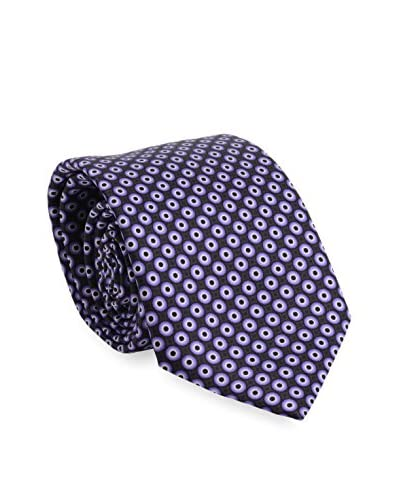 Brioni Men's Circles Silk Tie, Purple