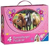 Ravensburger 07268 - Wunderschöne Pferde - 2x 64 / 2x 81 Teile Puzzlekoffer