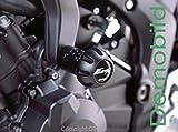 Puig 4428N Frame Sliders R12 for Suzuki GSF650 Bandit 2007-2011/ GSF650S Bandit 2007-2014/ GSF1250 Bandit 2007-2013/ GSF1250S Bandit 2007-2013, Black, Medium