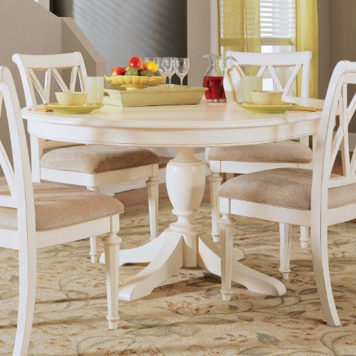 American Drew Camden Round Casual Dining Table in Antique White