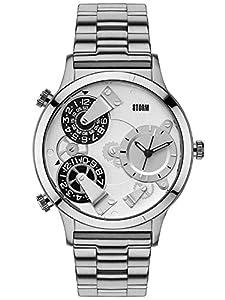 STORM - Reloj de pulsera hombre, acero inoxidable, color plateado