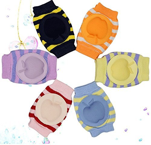 New Boys Girls Unisex Apple Cute Cotton Adjustable Elastic Baby Crawling Child Knee Pad Toddler Elbow Pads Crawling Safety Protector 6pcs - 1