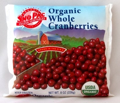 Organic Frozen Whole Cranberries,